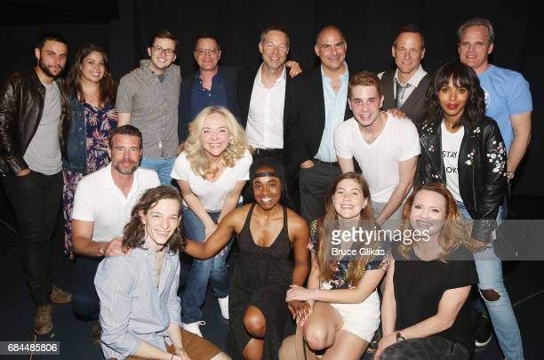 'Shondaland' stars Kerry Washington Jack Falahee George Newbern Josh Malina Scott Foley and Tom Vernica pose backstage with the cast at the hit...