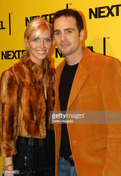 Shondra Janaway and fiance Jimmy Johnson during 2004 Nascar Nextel Cup Series Champion's Celebration at Marquee in New York City New York United...