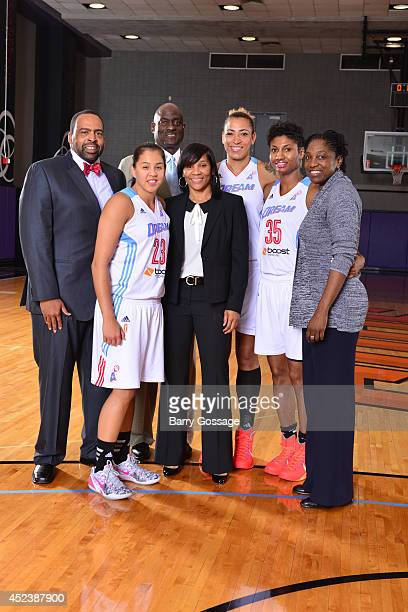 Shoni Schimmel Angel McCoughtry Erika de Souza poses for a portrait prior to the 2014 Boost Mobile WNBA AllStar Game on July 19 2014 at US Airways...