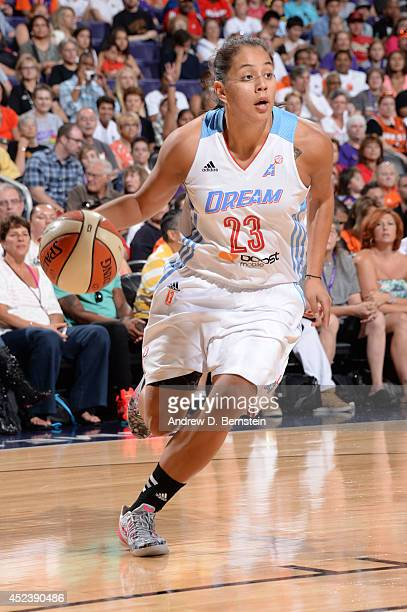 Shoni Schimmel of the Eastern Conference AllStars handles the basketball during the 2014 Boost Mobile WNBA AllStar Game on July 19 2014 at US Airways...