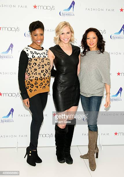 Shonica Gooden Stephanie Gibson and Kristine Bendul of the cast of Roger Hammerstein's Cinderella visit Macy's Herald Square on December 4 2014 in...