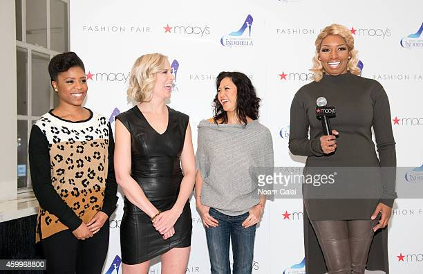 Shonica Gooden Stephanie Gibson Kristine Bendul and NeNe Leakes of the cast of Roger Hammerstein's Cinderella visit Macy's Herald Square on December...
