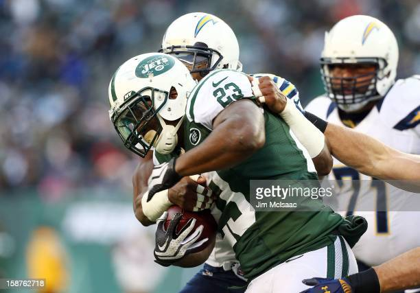 Shonn Greene of the New York Jets in action against the San Diego Chargers at MetLife Stadium on December 23, 2012 in East Rutherford, New Jersey....