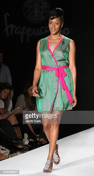 Shontelle walks in the bobi/Boy Meets Girl/Caravan Spring 2011 at Style360 on September 14 2010 in New York City