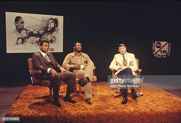 January 30 1974 Muhammad Ali Joe Frazier and Howard Cosell MUHAMMAD