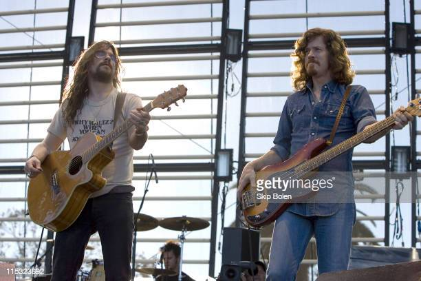 Shooter Jennings and bassist Ted Russell Kamp during Voodoo Music Experience in New Orleans - Day One - October 28, 2006 at New Orleans City Park in...