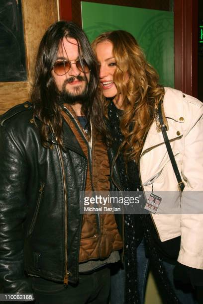 Shooter Jennings and Drea De Matteo during 2007 Park City Late Night at the Heineken Green Room at Heineken Green Room in Park City Utah United States