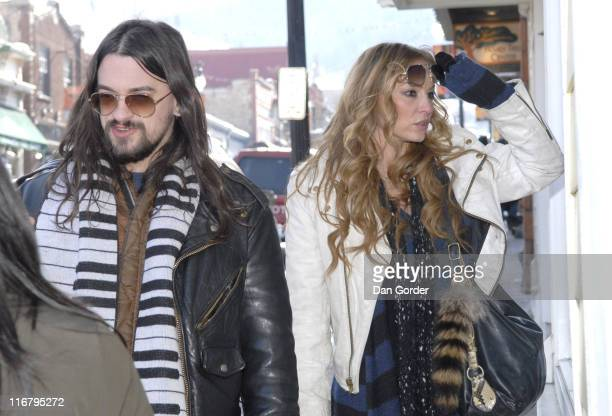 Shooter Jennings and Drea De Matteo during 2007 Park City Seen Around Town Day 4 at Streets of Park City in Park City Utah United States