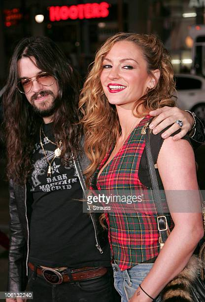 Shooter Jennings and Drea de Matteo during Jackass Number Two Los Angeles Premiere Arrivals at Grauman's Chinese Theatre in Hollywood California...