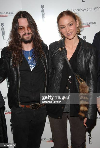 Shooter Jennings and Drea de Matteo during The Cinema Society and The Wall Street Journal Weekend Edition Host a Screening of Babel Outside Arrivals...