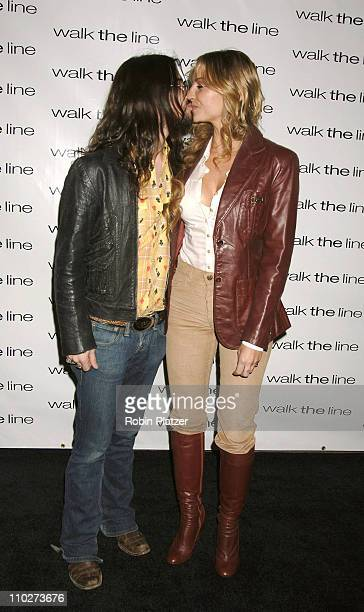 Shooter Jennings and Drea De Matteo during Walk the Line New York City Premiere Arrivals at Beacon Theatre in New York New York United States