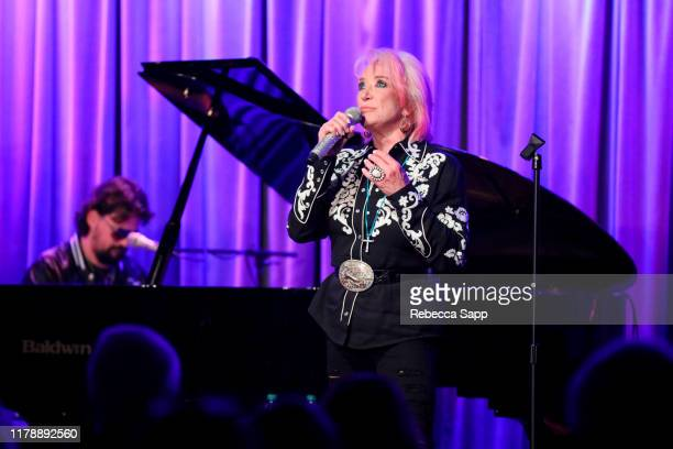 Shooter Jennings and Tanya Tucker perform at The Drop Tanya Tucker at the GRAMMY Museum on October 03 2019 in Los Angeles California