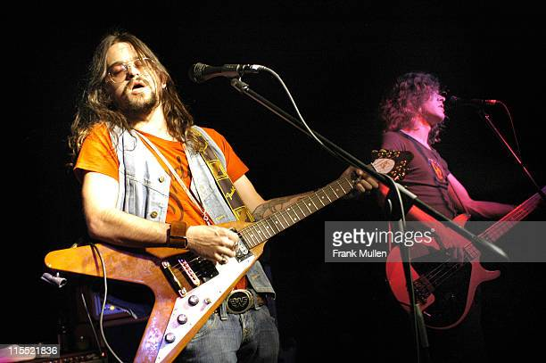 Shooter Jennings and Ted Russell Kamp during Shooter Jennings in Concert at The Loft in Atlanta - November 3, 2005 at The Loft in Atlanta, Georgia,...