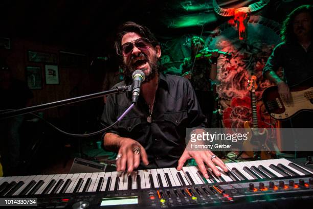 Shooter Jennings performs at Pappy Harriet's on August 9 2018 in Pioneertown California