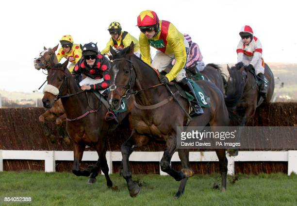 Shooters Wood ridden by jockey Ruby Walsh leads the field during The Jenny Mould Memorial Handicap Chace