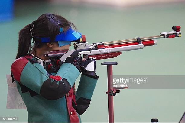 2008 Summer Olympics China Du Li in action during Women's 10M Air Rifle Final at Beijing Shooting Range Hall Beijing China 8/9/2008 CREDIT Bill Frakes