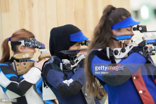 4th Islamic Solidarity Games Oman Amina Al Tarshi n action during Women's 10M Air Rifle Shooting at Baku Shooting Centre Baku Azerbaijan 5/13/2017...