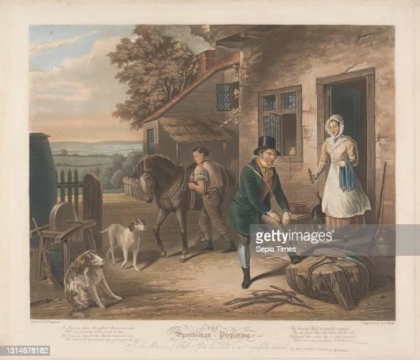 The Sportsman Preparing, Charles Hunt, 1803–1877, British, And George Hunt, active 1820–1840, British, after E. F. Lambert, active 1790–1846...