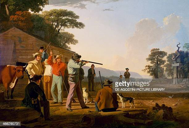 Shooting for the beef ca 1850 painting by George Caleb Bingham oil on canvas8x1245 cm