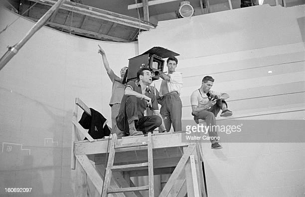 Shooting 'lysistrata' A Sketch By Christianjaque For The Film 'destinees' A Rome en 1954 sur le tournage de 'Lysistrata' un sketch du film...
