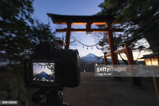 Shooting Mount Fuji Framed in a Tori Gate