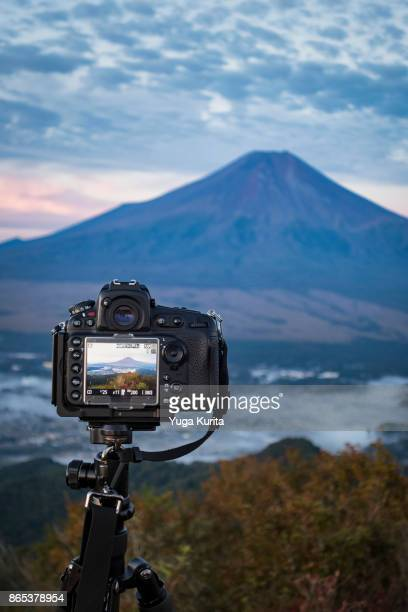 Shooting Mt. Fuji from Another Mountain