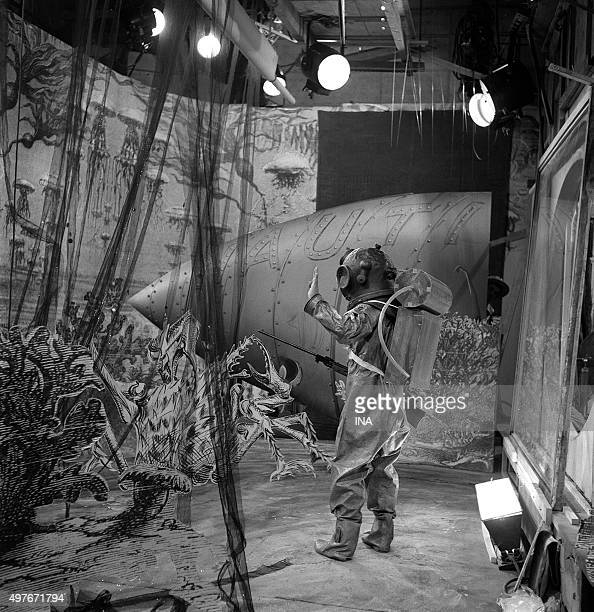 Shooting of a scene of 'Captain Nemo' television adaptation of the novel 'Twenty thousand leagues under seas' of Jules Verne