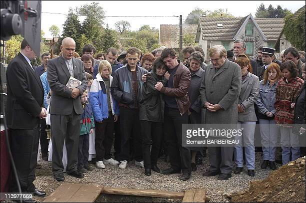 Shooting of film ' l'Affaire Villemin' of the film maker Raoul Peck broadcast on France 3 In France In 2005Christine Villemin JeanMarie Villemin...