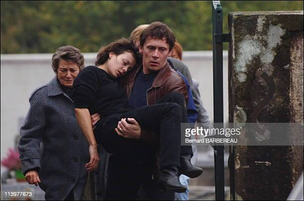 Shooting of film ' l'Affaire Villemin' of the film maker Raoul Peck broadcast on France 3 In France In 2005Alice Villemin Christine Villemin and...