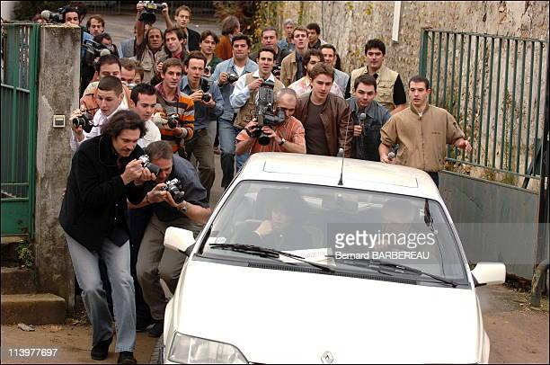 Shooting of film ' l'Affaire Villemin' of the film maker Raoul Peck broadcast on France 3 In France In 2005Christine Villemin and the advocate of the...