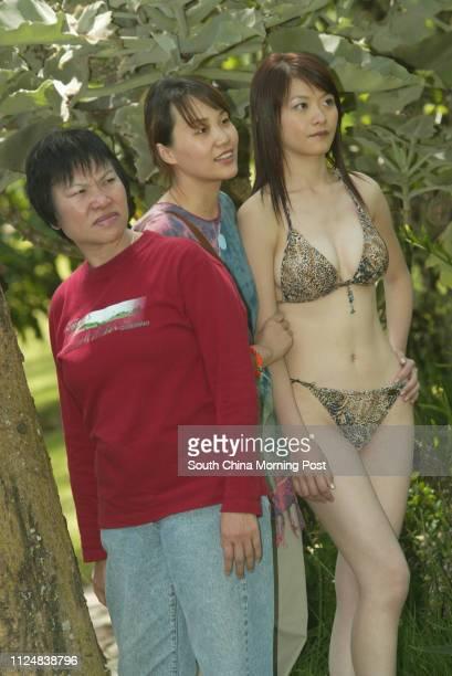 Shooting of Jacqueline Wong Yeeman one of Miss Hong Kong contestants in bikini at Sarova Lion Hill Lodge 31 May 2004