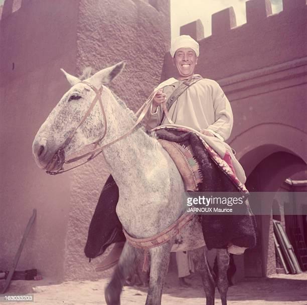 Shooting Of The Film 'Ali Baba Et Les Quarante Voleurs' With Fernandel Maroc 1954 Tournage du film 'Ali Baba et les quarante voleurs' de Jacques...