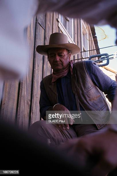 Shooting Of The Film 'Chisum' By Andrew V Mac Laglen Au Mexique en mars 1970 sur le tournage du film 'Chisum' d'Andrew V MCLAGLEN vue en...
