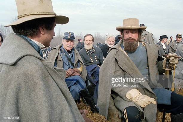 Shooting Of The Film Gods And Generals By Ted Turner Maryland aux EtatsUnis décembre 2001 Tournage du film Gods and Generals réalisé par Ronald...