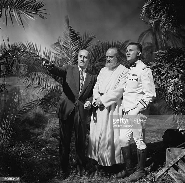 Shooting Of The Film 'il Est Minuit Docteur Schweitzer' By Andre Haguet Tournage du film 'IL EST MINUIT DOCTEUR SCHWEITZER' d'André Haguet dans les...