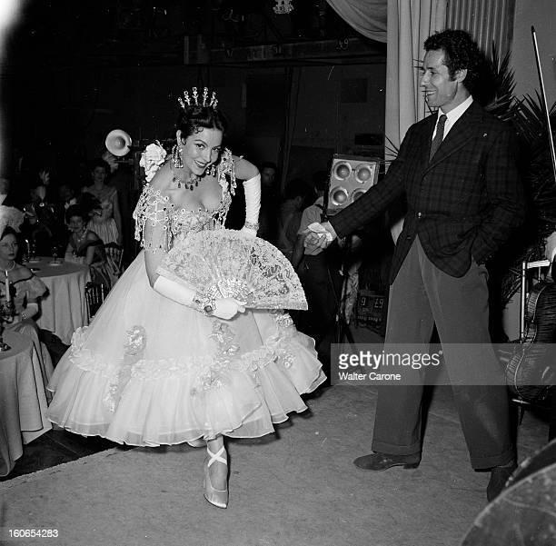 Shooting Of The Film 'la Belle Otero' By Richard Pottier En France en 1954 sur le tournage du film 'La belle Otero' de Richard POTTIER Maria FELIX...