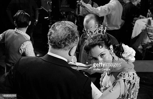 Shooting Of The Film 'la Belle Otero' By Richard Pottier En France en 1954 sur le tournage du film 'La belle Otero' de Richard POTTIER Louis SEIGNER...
