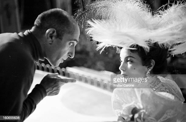 Shooting Of The Film 'la Belle Otero' By Richard Pottier En France en 1954 sur le tournage du film 'La belle Otero' de Richard POTTIER une personne...
