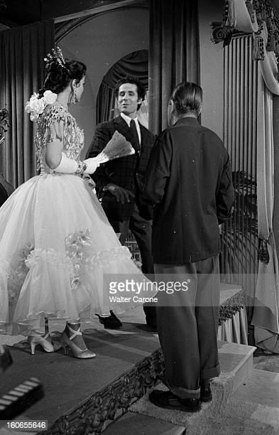 Shooting Of The Film 'la Belle Otero' By Richard Pottier En France en 1954 sur le tournage du film 'La belle Otero' de Richard POTTIER avec Maria...