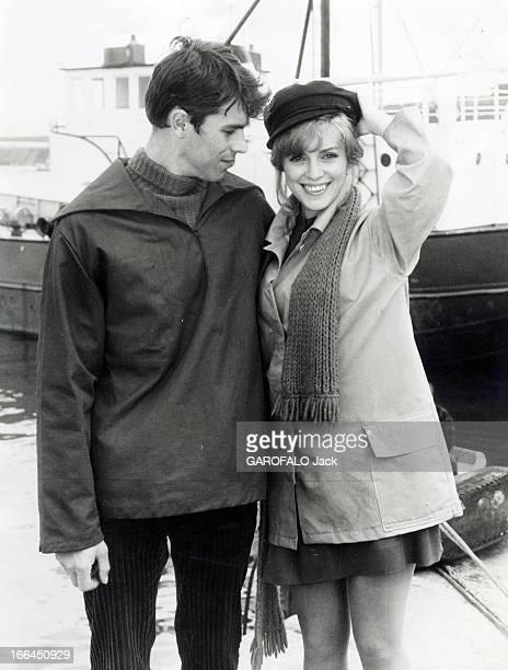 Shooting Of The Film 'La Prisonniere' By Henri Georges Clouzot With Elizabeth Wiener And Laurent Terzieff France Bretagne octobre1967 A l'occasion du...