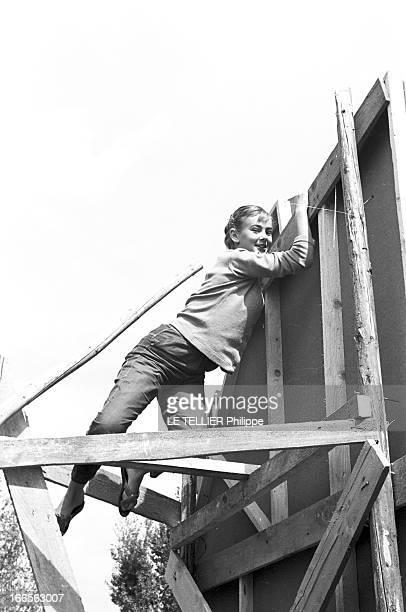 Shooting Of The Film 'La Tour Prend Garde' By Georges Lampin. Serbie, Belgrade- 19-21 septembre 1957- Lors du tournage du film...