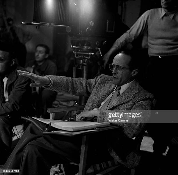 Shooting Of The Film 'les Belles De Nuit' By René Clair A l'occasion du tournage du film 'Les Belles de nuit' réalisé par René CLAIR reportage sur...