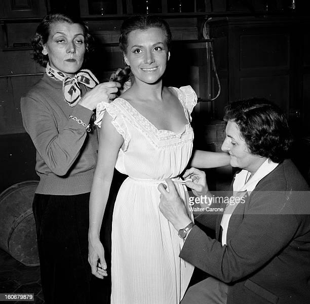 Shooting Of The Film 'les Diaboliques' By Henrigeorges Clouzot 1955 Lors du tournage du Film 'LES DIABOLIQUES' d' HenriGeorges CLOUZOT d'après le...