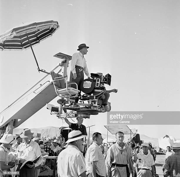 Shooting Of The Film 'les Dix Commandements' By Cecil B De Mille En Egypte au Caire en 1954 lors du tournage du film 'Les Dix Commandements' de Cecil...