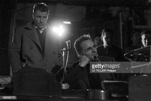 Shooting Of The Film 'Les Espions' By HenriGeorges Clouzot En France dans les studios de Joinville le 23 Janvier 1957 lors du tournage du film 'Les...