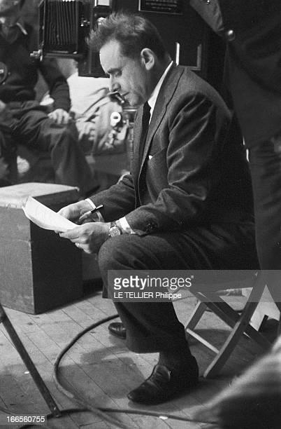 Shooting Of The Film 'Les Espions' By HenriGeorges Clouzot En France dans les studios de Joinville le 15 Janvier 1957 lors du tournage du film 'Les...