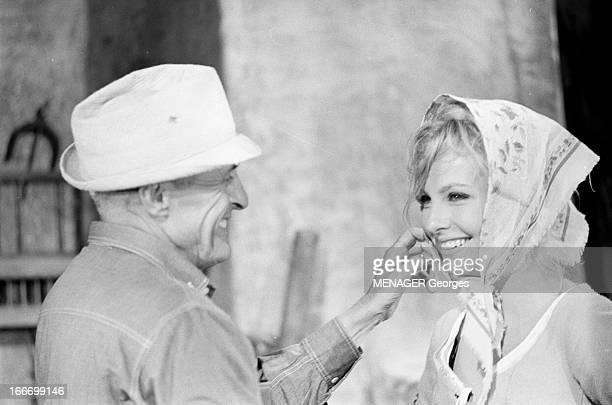 Shooting Of The Film 'Les Fetes Galantes' By Rene Clair En 1966 en Roumanie dans les studios de cinema de BUFTEA dans le cadre du tournage du film...