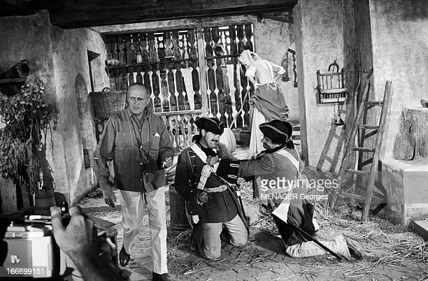 Shooting Of The Film 'Les Fetes Galantes' By Rene Clair En 1966 en Roumanie dans les décors des studios de cinema de BUFTEA lors du tournage de son...