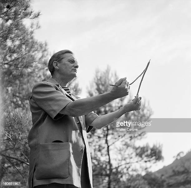Shooting Of The Film 'les Lettres De Mon Moulin' By Marcel Pagnol Dans le sud de la France le 5 Octobre 1954 lors du tournage du film 'Les Lettres de...