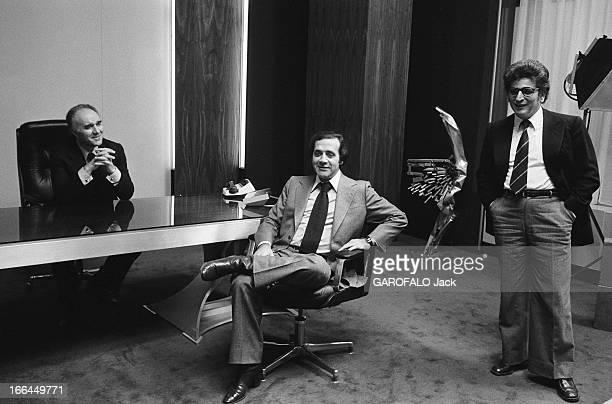 Shooting Of The Film 'L'Imprecateur' By JeanLouis Bertucelli 3 mars 1977 Dans les studios français ou suisses sur le plateau de tournage du film...